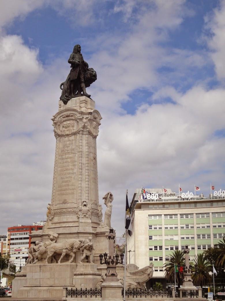 Praça Marquês de Pombal à Lisbonne