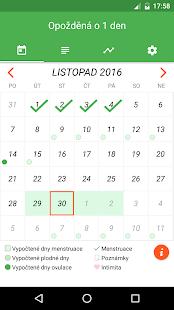 Menstruační kalendář česky