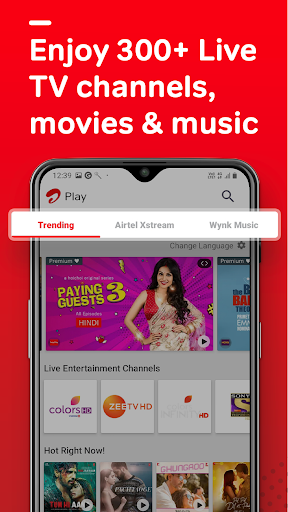 Airtel Thanks - Recharge, Bill Pay, Bank, Live TV android2mod screenshots 3