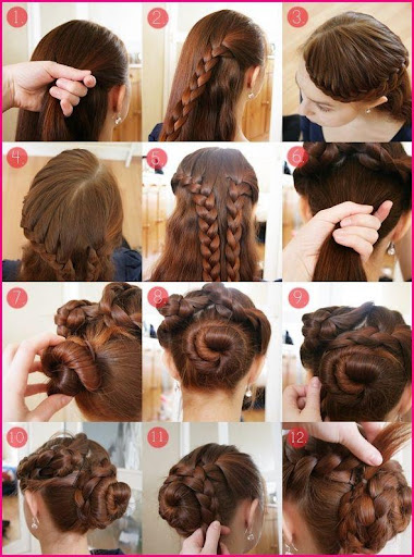 Hairstyles step by step 2018  screenshots 6