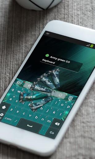 玩免費個人化APP|下載军绿色Jūn lǜsè GO Keyboard app不用錢|硬是要APP