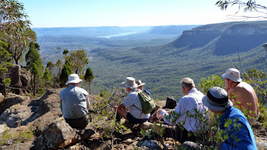 Photo: Morning tea at Bonnum Pic admiring the view north