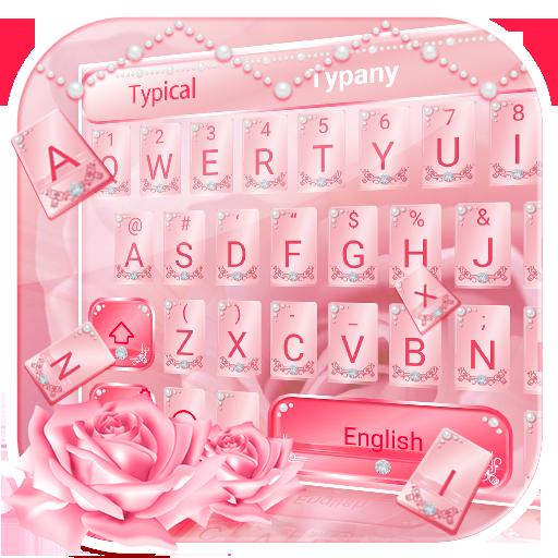 Pink Rose Luxury Keyboard Theme
