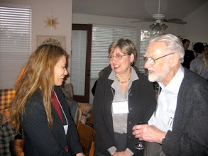 Photo: CONFERENCE ORGANIZER KIMBERLY JAMESON, CAROLYN LUCE AND PROFESSOR DUNCAN LUCE