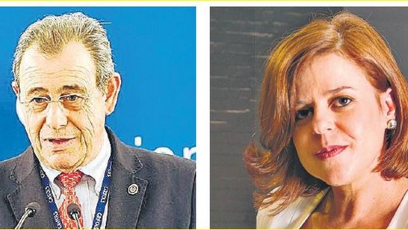 Víctor Grifols (Grifols) e Isabel Pérez (Real Track Systems).