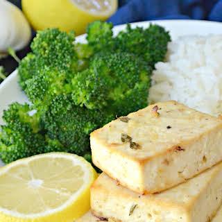 Lemon Garlic Baked Tofu.