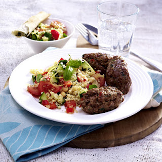 Beef Koftas with Herbed Bulgur Salad.