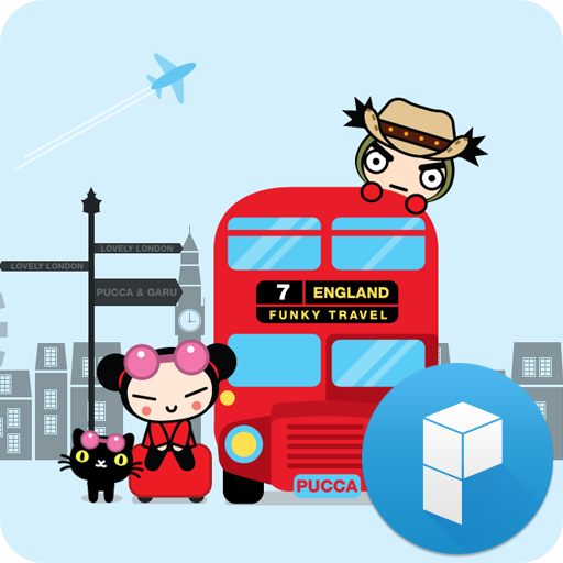 Pucca in London Launcher Theme 個人化 LOGO-玩APPs