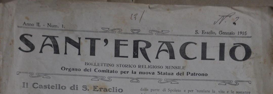 Sant'Eraclio Bollettino gennaio 1915
