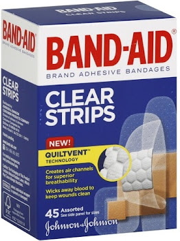 Band-Aid Adhesive Bandages Clear Strips
