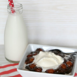 Chocolate Cherry Brownie Crockpot Dump Cake