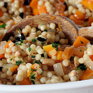 Israeli Couscous with Butternut Squash and Preserved Lemons.