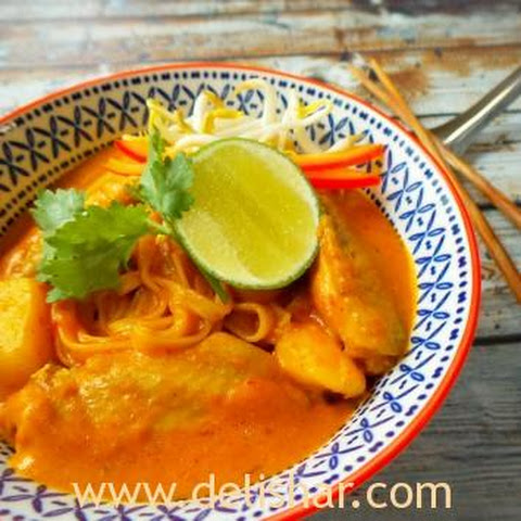Thai Curry Chicken Noodle Soup Recept | Yummly