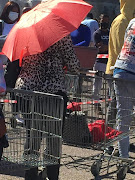 There were long queues at the Makro in Centurion in Tshwane on Monday morning.