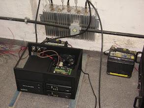 Photo: Primeiros testes, instalação provisória