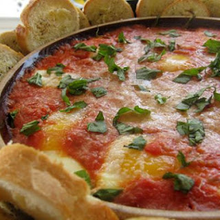 Creamy Egg Marinara Breakfast Dip
