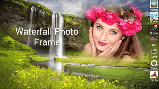 Waterfall Photo Frame.free Photo Frames. - náhled