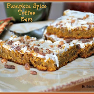 Pumpkin Spice Toffee Bars
