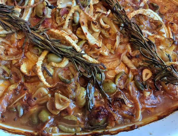 Braised Chicken With Olives, Lemon And Fennel Recipe