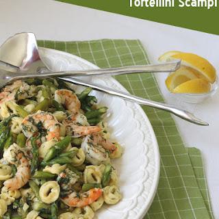 Shrimp, Asparagus & Tortellini in Lemon-Dill Scampi