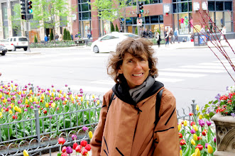 Photo: Ellen on blooming Michigan Ave.