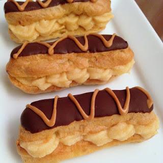Peanut Butter & Caramel Eclairs Recipe