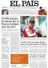 Photo: El FMI dispara la alarma por el fracaso europeo ante la crisis, fiscalía y PP presionan ante el juez para cerrar el sumario de la Gürtel y una grabación recoge el caos policial tras la tragedia del Madrid Arena, en nuestra portada del lunes 15 de abril http://srv00.epimg.net/pdf/elpais/1aPagina/2013/04/ep-20130415.pdf