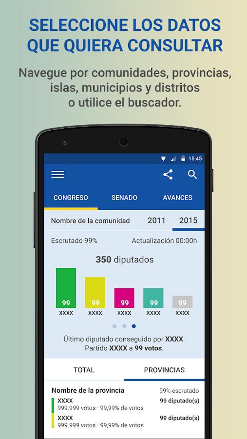 Elecciones generales 2015 android apps on google play for Resultados electorales mir