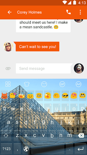 Paris Building -Emoji Keyboard
