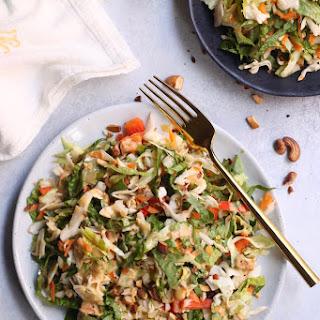 """Crunchy Thai Salad with Creamy """"Peanut"""" Dressing."""