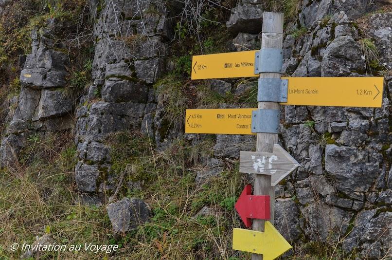 Mont Serein, départ sentier