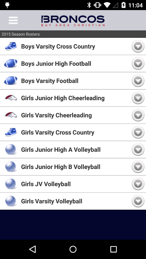 Bay Area Christian Athletics- screenshot
