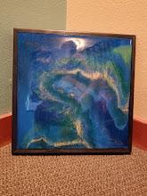 "Photo: ""One World"" acrylic on wood Artist, Heather Osterman"