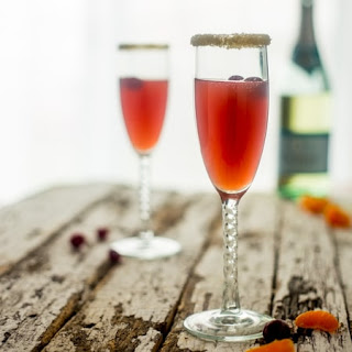 Orange Cranberry Cocktail with Champagne.