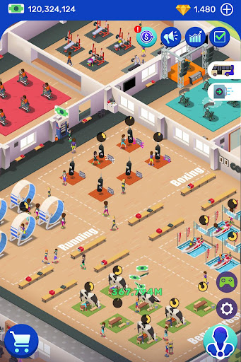 Code Triche Idle Fitness Gym Tycoon - Workout Simulator Game APK MOD screenshots 6