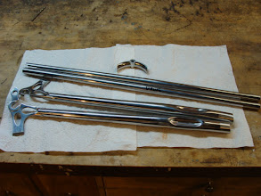 Photo: The rear end parts, pre-polished and ready to be brazed up.