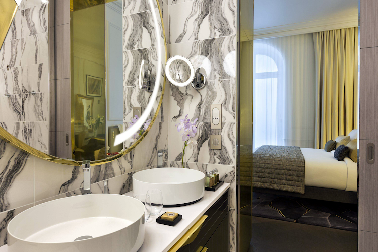 Bathroom at Champs Elysee apartment