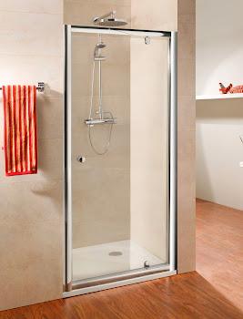 Porte de douche pivotante avec ou sans paroi latérale fixe