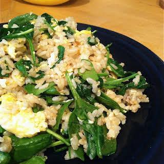 Egg n Spinach Stir Fry.