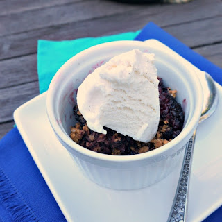 Grilled Mixed Berry Crisp
