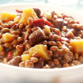 Crock-Pot Aloha Beans.