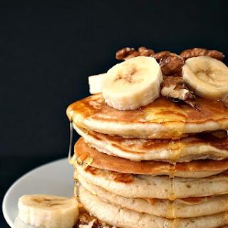 Fluffy American pancakes.