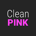 GO Contacts Clean Pink Theme icon