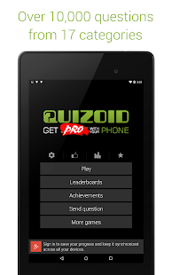 Quizoid Pro: Category Trivia with 5 Game modes- screenshot thumbnail