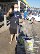 Errol Parkin was one of the first people to buy alcohol at Makro in Springfield, Durban, on Monday