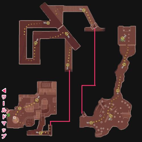 街の一角のマップ
