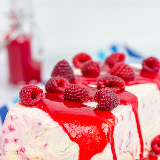 Lemon Raspberry Semifreddo