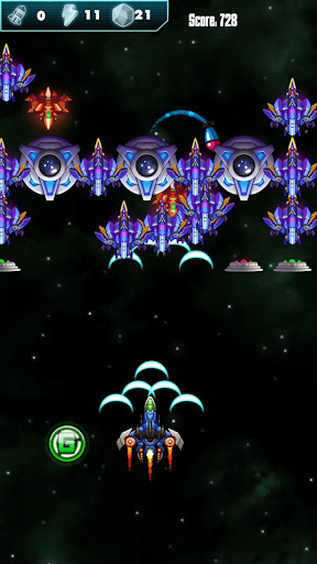 Galaxy Alien - Attack Shooter APK MOD – Pièces Illimitées (Astuce) screenshots hack proof 1
