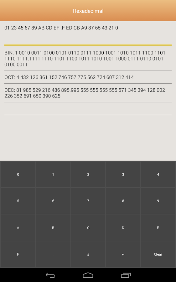 Positional notation converter- screenshot