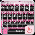 Pink Silver Bow Keyboard Theme icon